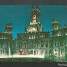 Postales: POSTAL CIRCULADA - MADRID 145 - FUENTE DE LA CIBELES Y PALACIO DE COMUNICACIONES - EDITA BEASCOA. Lote 190991052