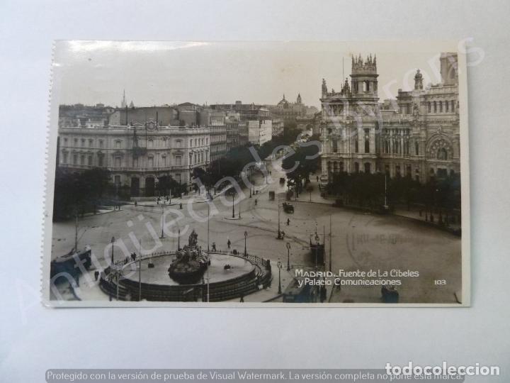 POSTAL ANTIGUA. FUENTE DE LA CIBELES Y PALACIO COMUNICACIONES. MADRID. (Postales - España - Comunidad de Madrid Antigua (hasta 1939))
