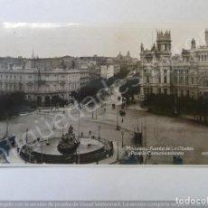 Postales: POSTAL ANTIGUA. FUENTE DE LA CIBELES Y PALACIO COMUNICACIONES. MADRID.. Lote 191151327