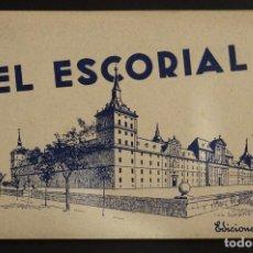 Postales: CARPETA CON 15 POSTALES EN ACORDEÓN DEL EL ESCORIAL. VER FOTOS Y COMENTARIOS. Lote 191209696
