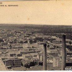 Postales: BONITA Y RARA POSTAL - MADRID - VISTA DESDE EL SEMINARIO . Lote 191215396