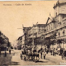 Postales: PRECIOSA POSTAL - MADRID - CALLE DE ALCALA - COCHES DE CABALLOS . Lote 191537492