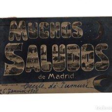 Postales: MADRID.- MUCHOS SALUDOS A MADRID.. Lote 191592710
