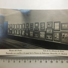 Postales: POSTAL. MADRID. MUSEO DEL PRADO. SALA DIBUJOS DE GOYA. HAUSER Y MENET. H. 1955?.. Lote 191656570