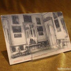 Postales: ANTIGUA TARJETA POSTAL DEL REAL PALACIO DE ARANJUEZ,DESPACHO DE LA REINA.. Lote 191927183