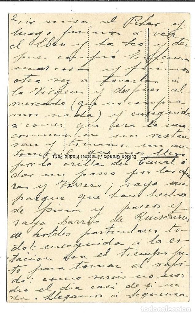 Postales: A100- 3 POSTALES DE MADRID ESCRITAS CON UNA CARTA AL DORSO DE LAS TRES DE CALATAYUD EL 22- 9-1.923 - Foto 5 - 191960452