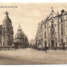Postales: A100- MADRID - POSTAL ANTIGUA - ENTRADA DE LA GRAN VIA - DEDICADA . Lote 191962565