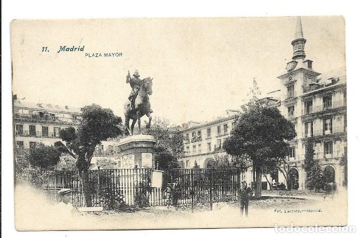 A100- MADRID - POSTAL ANTIGUA - PLAZA MAYOR Nº 11 - FOTO- LACOSTE - SIN CIRCULAR SIN DIVIDIR (Postales - España - Comunidad de Madrid Antigua (hasta 1939))