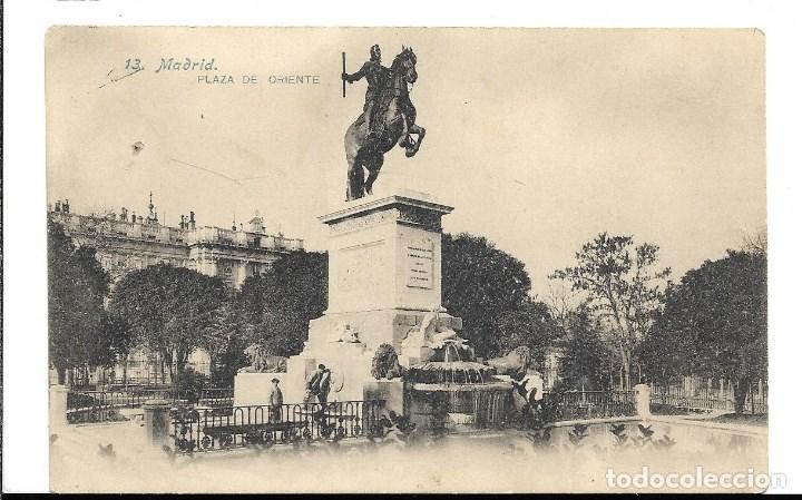 A100- MADRID - POSTAL ANTIGUA - PLAZA DE ORIENTE Nº 13 - FOTO- LACOSTE - SIN CIRCULAR SIN DIVIDIR (Postales - España - Comunidad de Madrid Antigua (hasta 1939))