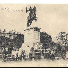 Postales: A100- MADRID - POSTAL ANTIGUA - PLAZA DE ORIENTE Nº 13 - FOTO- LACOSTE - SIN CIRCULAR SIN DIVIDIR. Lote 191963481