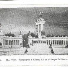 Postales: A100- MADRID - POSTAL ANTIGUA - ALFONSO XII PARQUE RETIRO Nº 1 - - SIN CIRCULAR SIN DIVIDIR. Lote 191963790