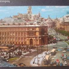 Postales: POSTAL MADRID PLAZA CIBELES Y CALLE ALCALÁ. POSTALES ALCALÁ MADRID. Lote 192047090