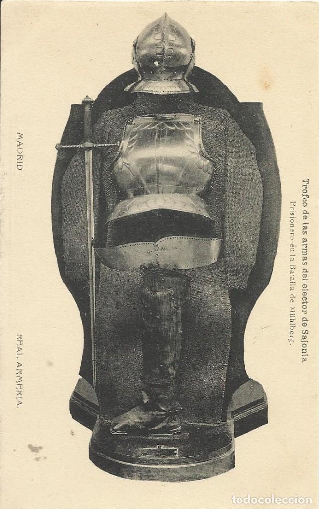 HAUSER Y MENET. TROFEO DE LAS ARMAS DEL ELECTOR DE SAJONIA. REAL ARMERÍA. ARMAS. (Postales - España - Comunidad de Madrid Antigua (hasta 1939))