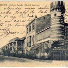 Postales: PRECIOSA POSTAL - MADRID - CALLE DE CASTELAR (MADRID MODERNO) - FOT. LAURENT. Lote 192753368