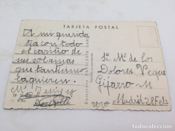 Postales: Postal El Río, Miraflores de la Sierra, Madrid. Años 50 - Foto 2 - 193073588