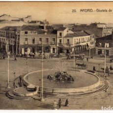 Postales: MAGNIFICA POSTAL - MADRID - GLORIETA DE RUIZ JIMENEZ - PRECIOSO MATASELLO DE MADRID -20-JUL-19. Lote 193298655