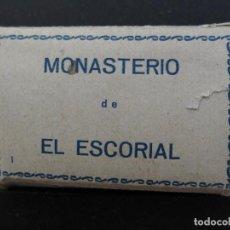 Postales: BLOQUE ACORDEON CON 20 VISTAS DEL MONASTERIO EL ESCORIAL EDICIONES ARRIBAS ZARAGOZA. Lote 193425441