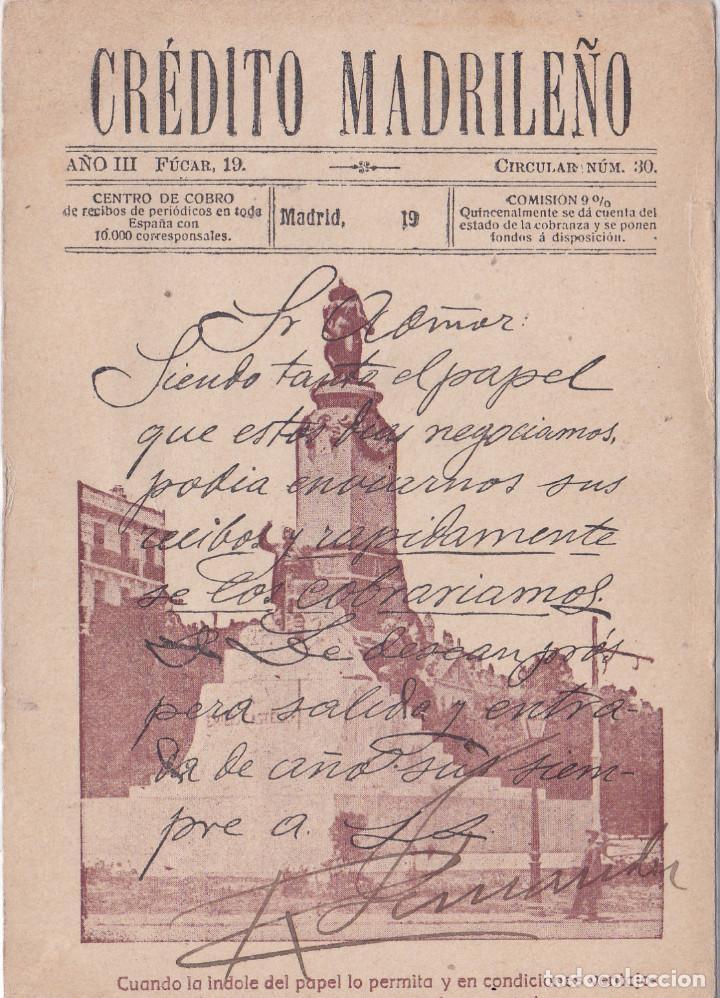 MADRID - CREDITO MADRILEÑO (Postales - España - Comunidad de Madrid Antigua (hasta 1939))
