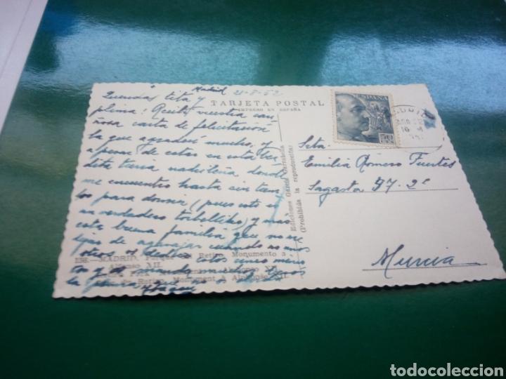 Postales: Antigua postal de Madrid. Parque del Retiro. 1952 - Foto 2 - 194196773