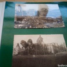 Postales: DOS ANTIGUAS POSTALES DE MADRID. AÑOS 60. CIBELES Y PUERTA DEL SOL. Lote 194198113
