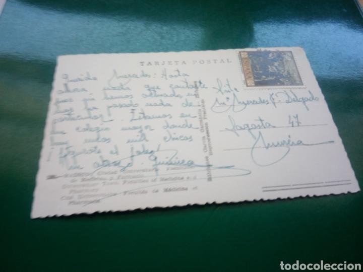 Postales: Antigua postal de Madrid. Ciudad universitaria. Años 60 - Foto 2 - 194199608