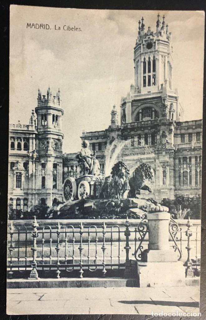 MADRID AÑO 1909 . LA CIBELES. (Postales - España - Comunidad de Madrid Antigua (hasta 1939))
