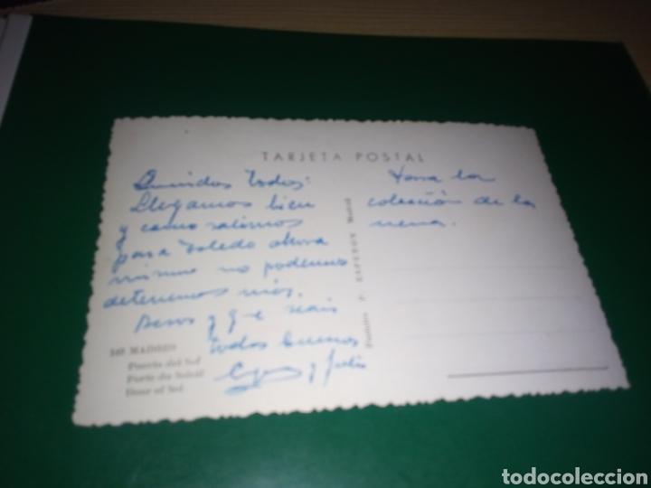 Postales: Antigua postal de Madrid. Puerta del Sol. Postales P. Esperón. Años 50 - Foto 2 - 194222710