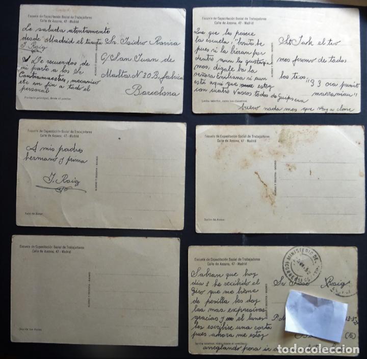 Postales: 6 postales de la Escuela de Capacitación de Trabajadores de Madrid , años 50, ver fotos y comentario - Foto 2 - 194223115