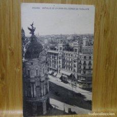 Postales: POSTAL DE MADRID.HAUSER Y MENET.DETALLE DE LA GRAN VÍA CON CONDE PEÑALVER.. Lote 194291036
