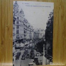 Postales: POSTAL DE MADRID.HAUSER Y MENET. LA GRAN VÍA CON AVENIDA DEL CONDE PEÑALVER.. Lote 194291140