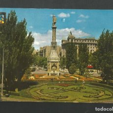 Postales: POSTAL CIRCULADA - MADRID 101 - MONUMENTO A CRISTOBAL COLON - EDITA ESCUDO DE ORO. Lote 194291586