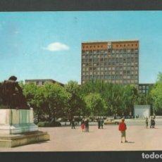 Postales: POSTAL CIRCULADA - MADRID 203 - MONUMENTO A VELAZQUEZ Y EDIFICIO SINDICATOS - EDITA BEASCOA. Lote 194291771