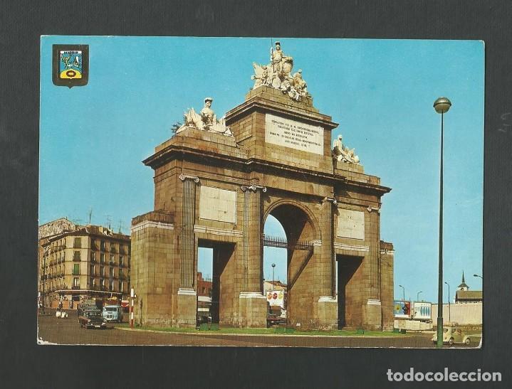 POSTAL CIRCULADA - MADRID 160 - PUERTA DE TOLEDO - EDITA ESCUDO DE ORO (Postales - España - Madrid Moderna (desde 1940))
