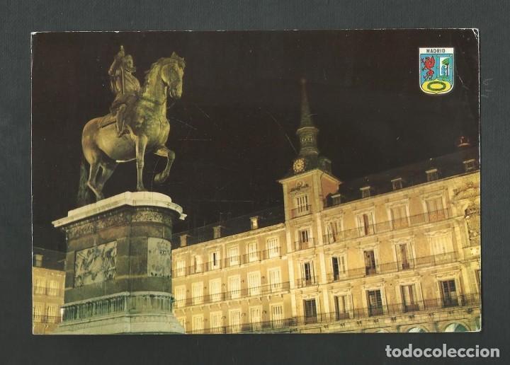 POSTAL CIRCULADA - MADRID 23 - PLAZA MAYOR - EDITA BERGAS (Postales - España - Madrid Moderna (desde 1940))