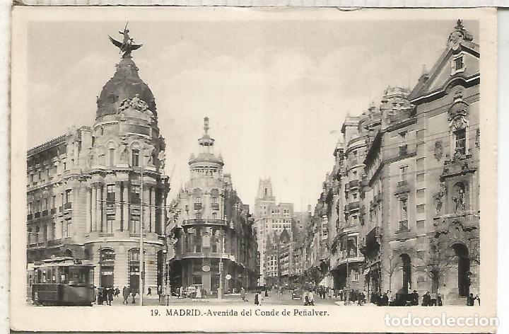 MADRID AVENIDA CONDE PEÑALVER ESCRITA (Postales - España - Comunidad de Madrid Antigua (hasta 1939))