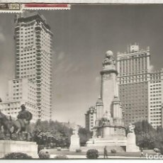 Postales: MADRID MONUMENTO A DON QUIJOTE ESCRITA. Lote 194324655