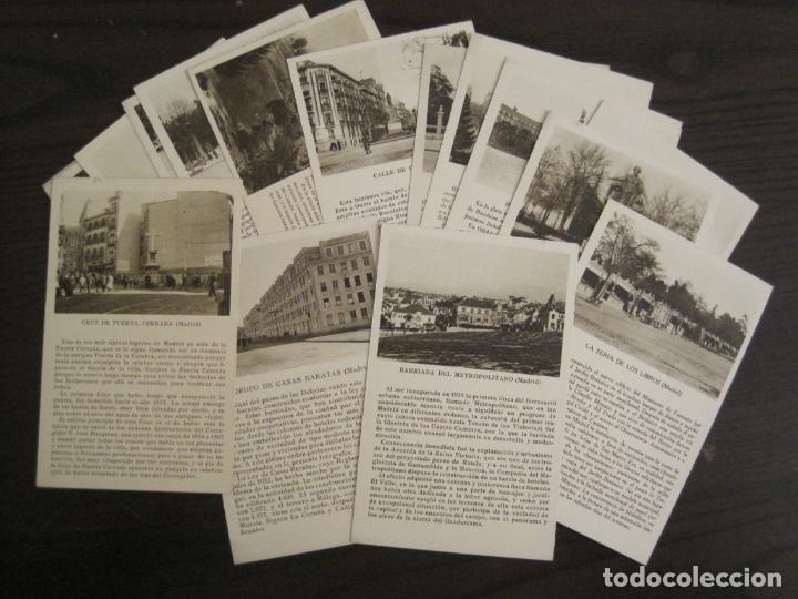 MADRID-LOTE DE 17 POSTALES ANTIGUAS-EDICIONES CAYON-VER FOTOS-(67.008) (Postales - España - Comunidad de Madrid Antigua (hasta 1939))