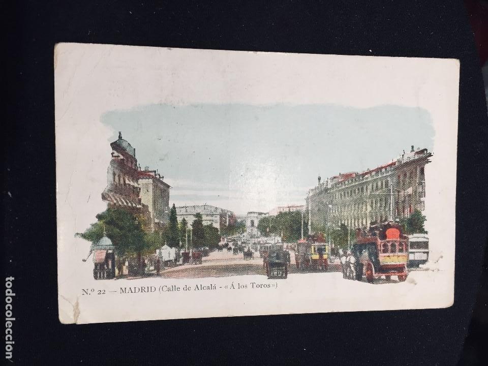 POSTAL N 22 MADRID CALLE DE ALCALA A LOS TOROS JOSE BLAS Y CIA INSCRITA CIRCULADA (Postales - España - Comunidad de Madrid Antigua (hasta 1939))