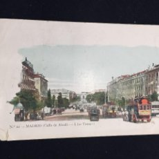 Postales: POSTAL N 22 MADRID CALLE DE ALCALA A LOS TOROS JOSE BLAS Y CIA INSCRITA CIRCULADA. Lote 194336985