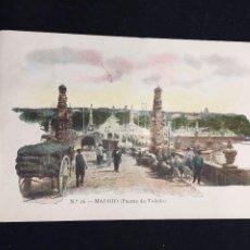 Postales: POSTAL 16 MADRID PUENTE DE TOLEDO JOSE BLASS Y COMPAÑIA INSCRITA CIRCULADA. Lote 194338681