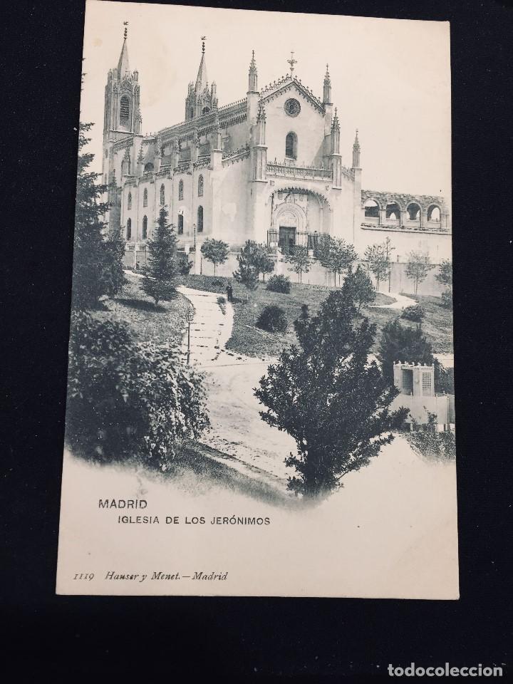 POSTAL MADRID IGLESIA DE LOS JERONIMOS 1119 HAUSER NO INSCRITA NO CIRCULADA (Postales - España - Comunidad de Madrid Antigua (hasta 1939))