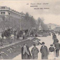 Postales: ESPAÑA, MADRID - SALÓN DEL PRADO - ALREDEDOR DE 1910 -. Lote 194360307