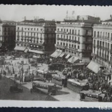 Postales: MADRID, LA PUERTA DEL SOL, POSTAL CIRCULADA DEL AÑO 1948. Lote 194497017