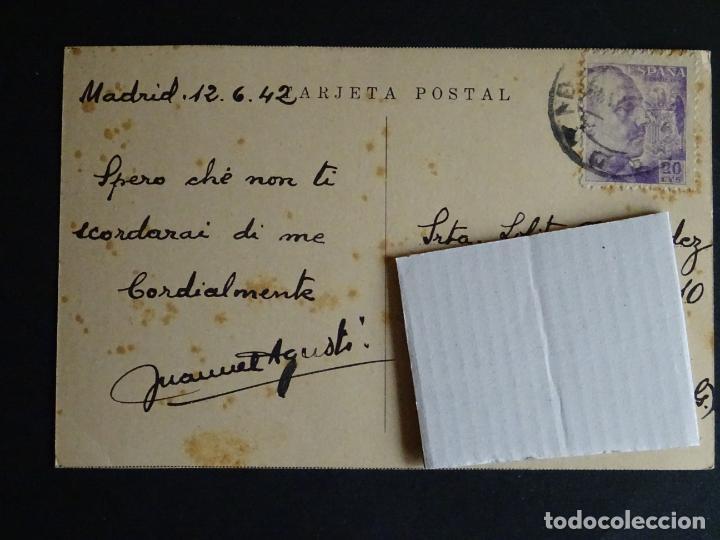 Postales: Madrid, antigua postal circulada con sello del año 1942 - Foto 2 - 194497931