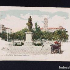 Postales: POSTAL COLOREADA MADRID Nº 12 ESTATUA DE ESPARTERO ESCRITA Y CIRCULADA 1906. Lote 194512987
