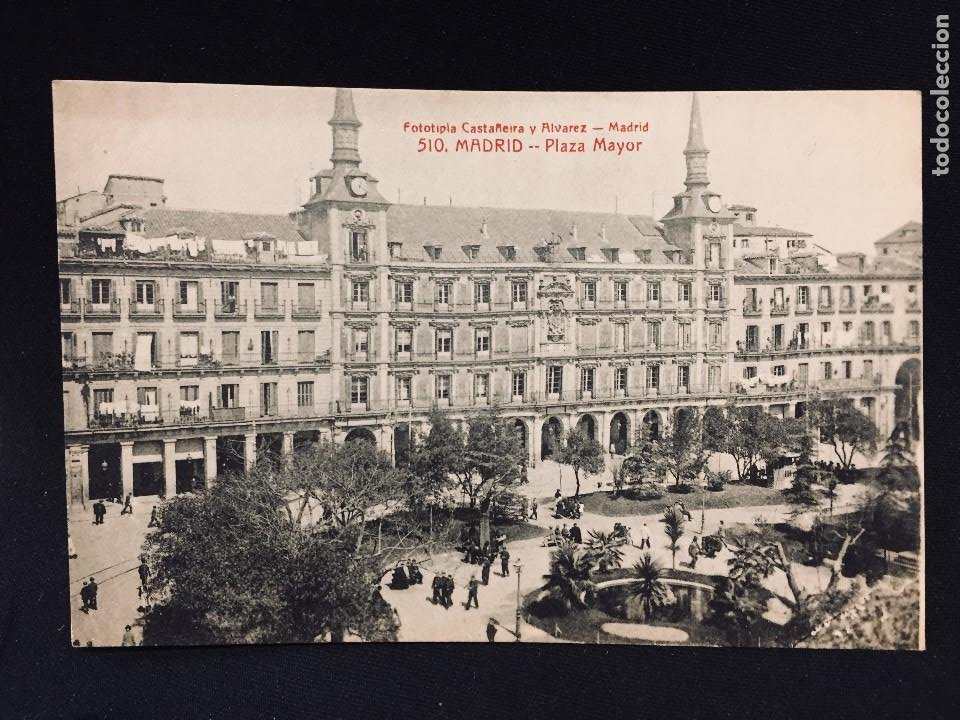 POSTAL MADRID PLAZA MAYOR EDICIONES FOTOTIPIA CASTEÑEIRA Nº 510 SIN CIRCULAR (Postales - España - Comunidad de Madrid Antigua (hasta 1939))