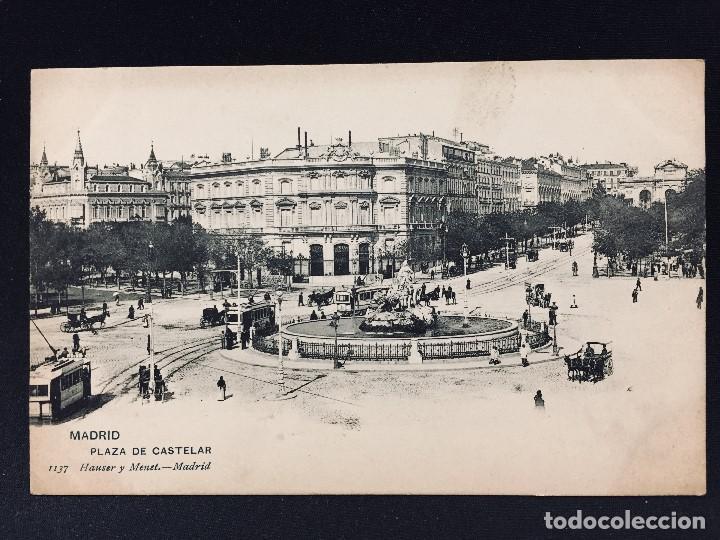 POSTAL MADRID PLAZA DE CASTELAR Nº 1137 HAUSER Y MENET SIN CIRCULAR (Postales - España - Comunidad de Madrid Antigua (hasta 1939))