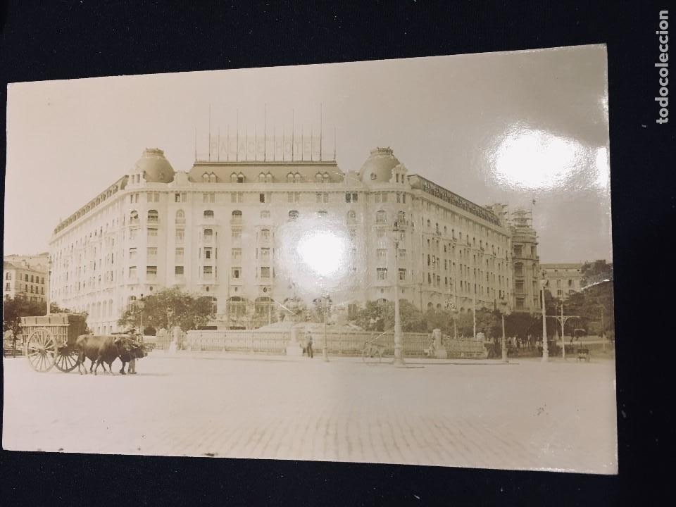 HOTEL PALACE MADRID CARRO BUEYES FOTO POSTAL NO ED NO INSCRITA NO CIRCULADA (Postales - España - Comunidad de Madrid Antigua (hasta 1939))