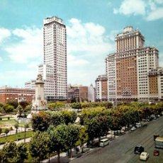 Postales: MADRID. 41 PLAZA DE ESPAÑA. GARCIA GARRABELLA. USADA. COLOR. Lote 194553453