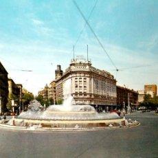 Cartes Postales: MADRID. 109 FUENTE D ELA PLAZA DE CARLOS V. ESCUDO DE ORO. USADA. COLOR. Lote 194553458